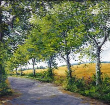 Wheatfields St.Margarets - Elsie Sheridan - original oil paintings and landscapes of Ireland.