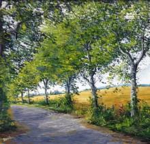 Wheatfields St.Margarets - Elsie Sheridan - original oil paintings and landscapes of Ireland.