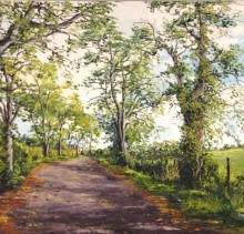 Country Road - Elsie Sheridan - original oil paintings and landscapes of Ireland.