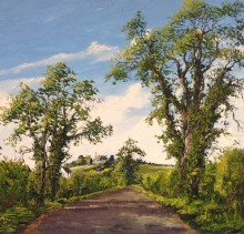 Road to Kilbride - Elsie Sheridan - original oil paintings and landscapes of Ireland.