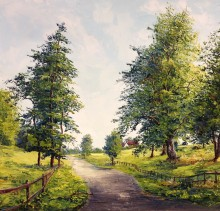 Road to the Farm - Elsie Sheridan - original oil paintings and landscapes of Ireland.