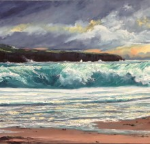 Western Storm - Elsie Sheridan - original oil paintings and landscapes of Ireland.