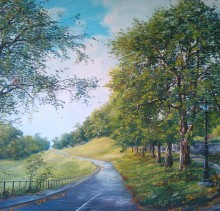 The Road - Elsie Sheridan - original oil paintings and landscapes of Ireland.