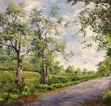 Country Lane - Elsie Sheridan - original oil paintings and landscapes of Ireland.