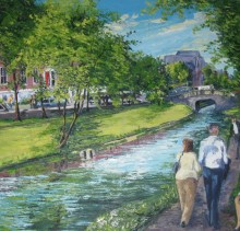 The Walk - Elsie Sheridan - original oil paintings and landscapes of Ireland.