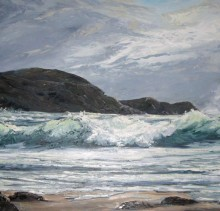 Storm - Elsie Sheridan - original oil paintings and landscapes of Ireland.