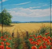 Farmland - Elsie Sheridan - original oil paintings and landscapes of Ireland.