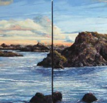 Calm Shore - Elsie Sheridan - original oil paintings and landscapes of Ireland.