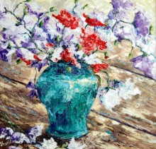 Flowers - Elsie Sheridan - original oil paintings and landscapes of Ireland.